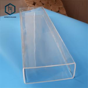 Customizable Strength Square Shape Quartz Tube square shape glass tube